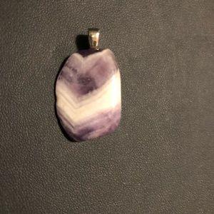 Jewelry - Purple Chevron Agate Pendant